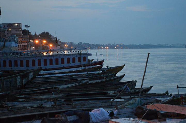 boats in Ganga