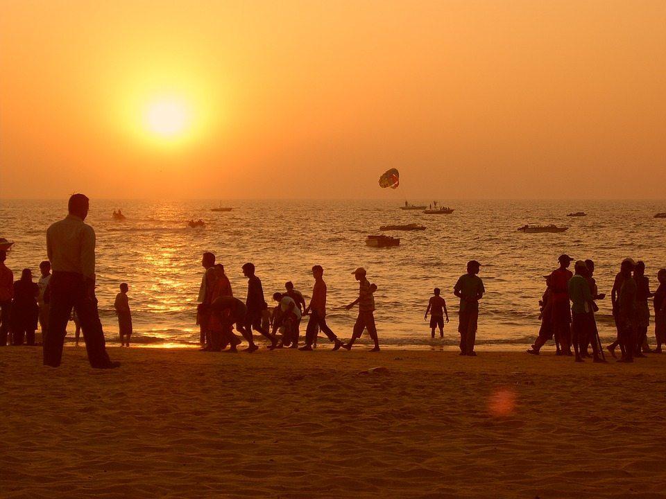 India travel beach