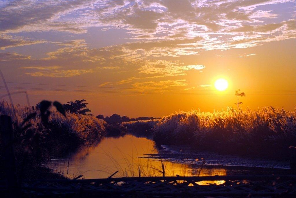 sunset-at-majuli