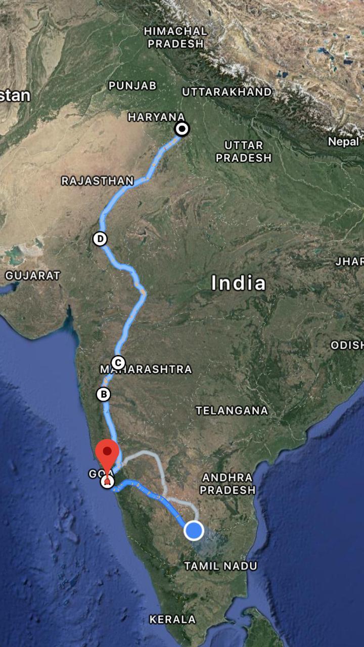 Bangalore-Delhi Road trip